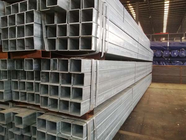 Hot dipped galvanized square steel pipes/hot dipped galvanized square steel tubes